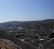 A bird's eye view of Honesdale. You can either drive or hike to this spot.